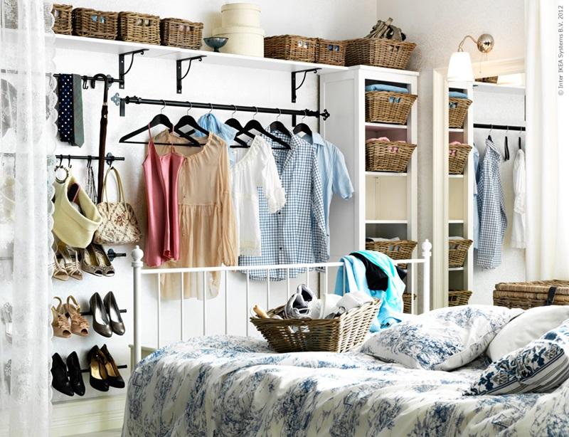 Soluții de depozitare garderobă pentru locuințe mici