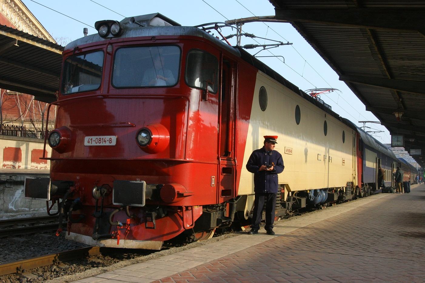 Romania din trenul CFR