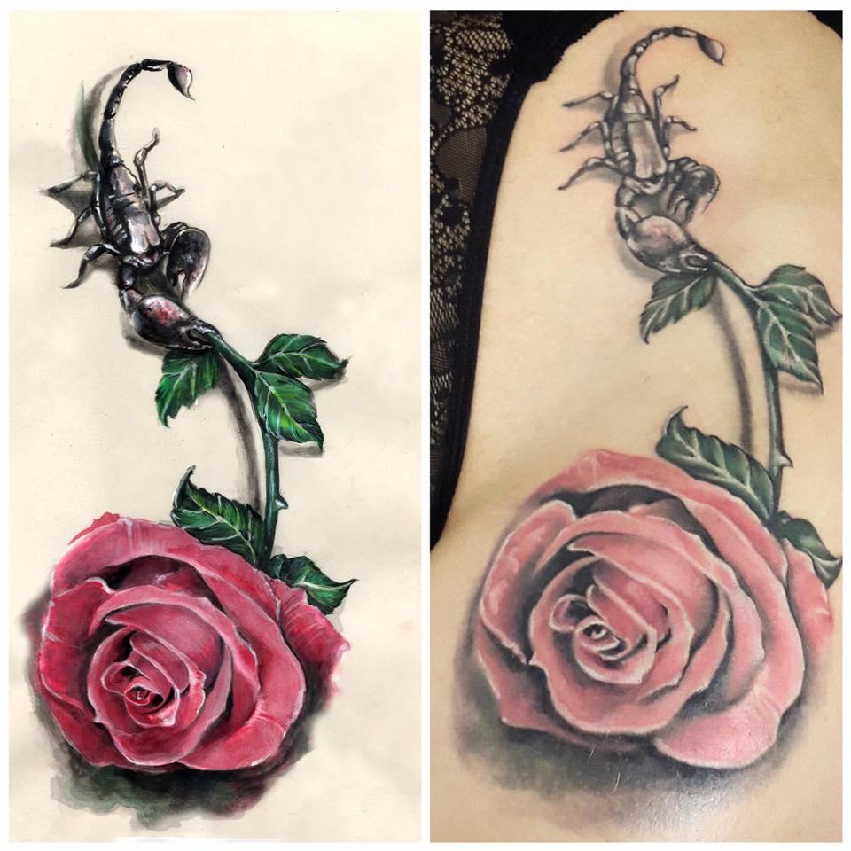 Primul tatuaj colorat (P)